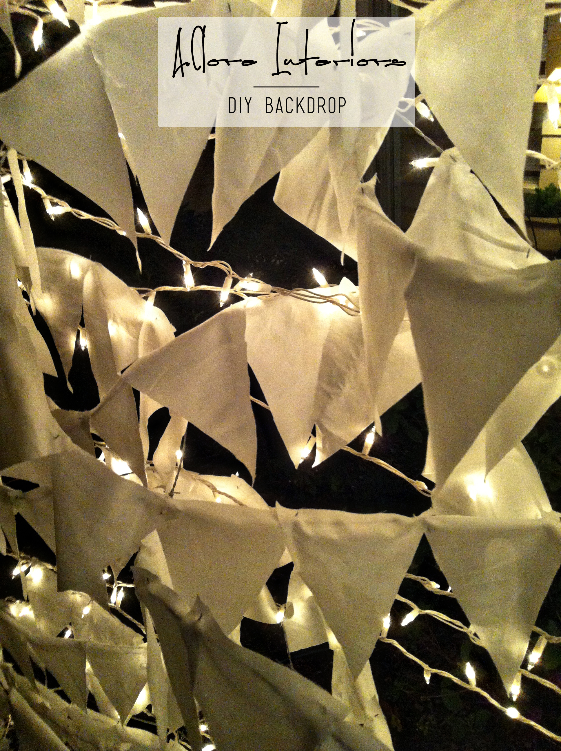 DIY Backdrop A.Clore Interiors